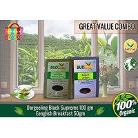 Darjeeling Black Supreme Tea (100 Gm Pack) + English Breakfast Tea (50 Gm Pack)