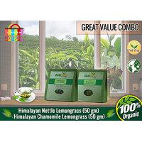 Himalayan Nettle-Lemongrass + Chamomile-Lemongrass Tea (50 Gms Pack)