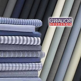 Gwalior Mens Suitings and Shirtings combo of 4 Trouser and 4 shirt fabric