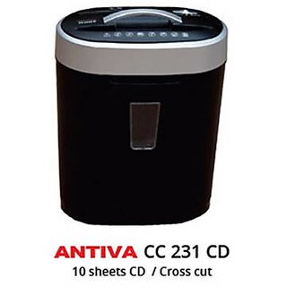ANTIVA Cross Cut Paper Shredder - 10 Sheets Paper/CD/Credit Card