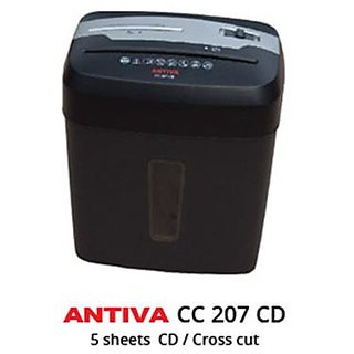 ANTIVA Cross Cut Paper Shredder - 5-6 Sheets Paper/1CD/1Credit Cards