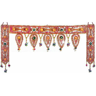 Cloth Door Toran with Decorative Door Hanging