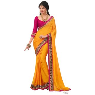 Indian Fashionista Presents Women's party wear pure Banglori Silk Saree with Satin chiffon chex blouse (SHRISASURALWB1002orange)