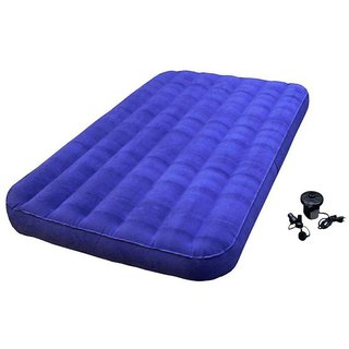 Navy Blue Double Air Mattress with Piilllow and IBSAir Pump