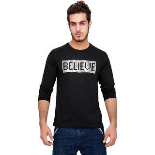 Crave Circle Men's Black Believe T-Shirt