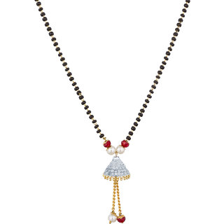 Luxor Gold Plated Multicolor Alloy Only Mangalsutra for Women