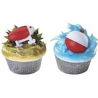 24 count - Fishing Lure and Bobber Cupcake Rings