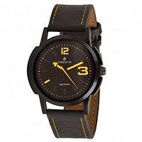 Sheldon Black/Yellow Dial Analog Watch For Men