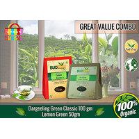 Darjeeling Green Classic Tea (100 Gms) + Lemon Green Tea (50 Gms)