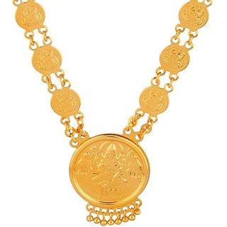 Memoir from Sambhav Crafts Gold plated All coin Laxmi Necklace