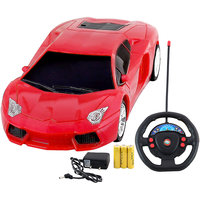 DealBindaas Chargeable Car Toy with Four Way Steering Remote (Assorted colours)