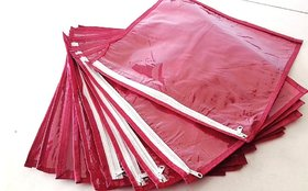 12 PC MAROON PRIMIUM QUALITY HEAVY SARI DRESS PROTECTION SARI KIT/COVER/ BAG