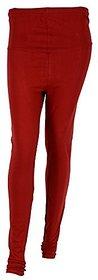 Dilart Cotton Lycra Leggings with Front/Back Yoke- (Red Color)