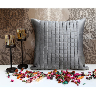 ANS Grey cushion with Checkered cubes at centre