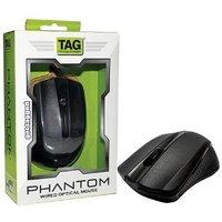 TAG USB Phantom Wired Optical Mouse  (USB, Black)