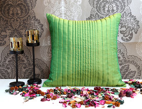ANS Sea green uneven quilted cushion cover