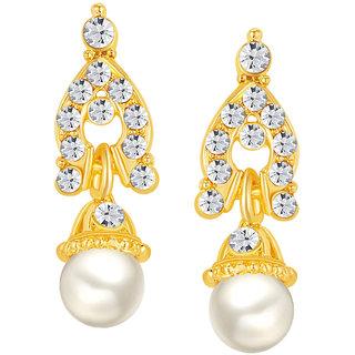 Gold Designer Alloy Festive Gold Plated Australian Diamond Drops