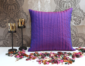 ANS Violet uneven quilted cushion cover