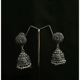 eb70885948a Silver Plated handmade Jhumka Jhumki Earrings For Women
