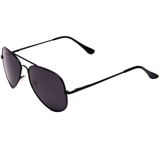 Eagle Eyewear Black Polarized Unisex Aviator Sunglass