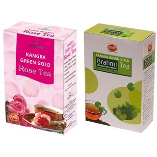 Rose Tea + Brahmi Green Tea - Pack of 2