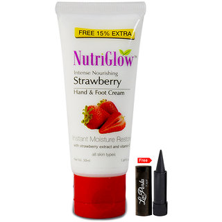 Nutriglow Intense Nourishing Strawberry Hand Foot Cream (Pack Of 1)