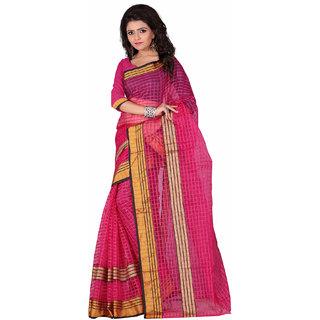 Ruchika Pink Plain Chanderi Women