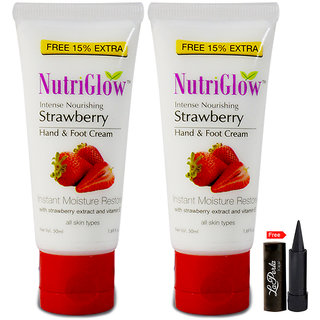 Nutriglow Intense Nourishing Strawberry Hand Foot Cream (Pack Of 2)