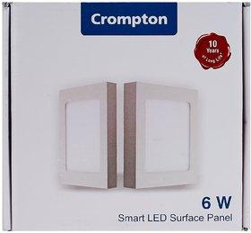 Crompton Pearl LCDSPL-S-06-CDL Surface Mount 6-Watt Square LED Slim Panel Light