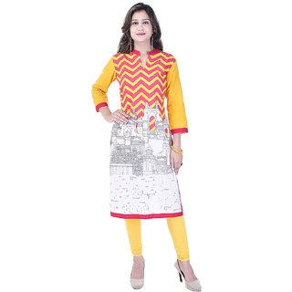 A&K Multi Printed Cotton Kurti For Women