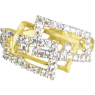 Tuan Fancy Alloy Cubic Zirconia (CZ) diamond gold ring