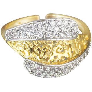 Tuan designer Alloy Cubic Zirconia (CZ)diamond gold ring