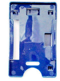 Blue  Plastic Id Card Holder