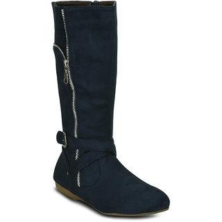 Kielz Women Blue Zip Boots