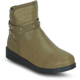 Kielz Women Beige Zip Boots