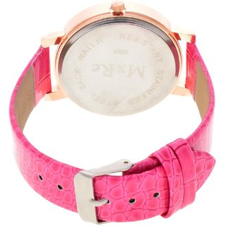 5Star Online Round Dial Pink Analog Watch For Women