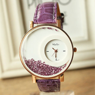 5Star Online Round Dial Purple Analog Watch For Women