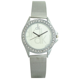 5Star Online Round Dial Silver Analog Watch For Women