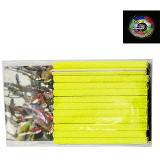Futaba Bicycle Wheel Rim Spoke Tube Reflective Strip - 12Pcs - Yellow