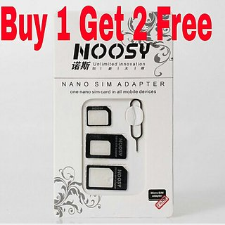 Noosy 4 In 1 Nano Sim Card Adapter ( get 3 packets)