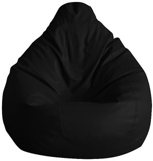 UK Bean Bags XL Classic Bean Bag Cover Black Size XL