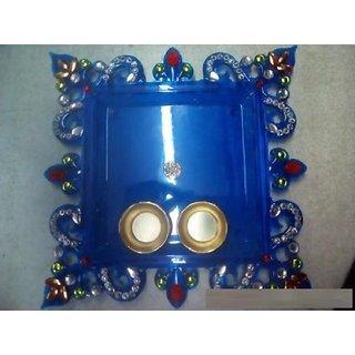 Handmade Diwali Pooja Thali With Home Decor
