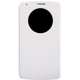 Shree Retail Nillkin Sparkle New Quick Circle View Leather Flip Cover For LG G3 D855 - White