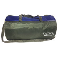 Bagther Blue Gray Nylon Gym Bag