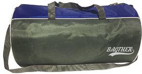 Bagther Blue Gray Nylon Gym Bag