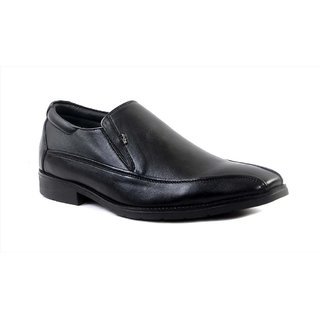 Hitz Black Leather Formal Shoes For Men
