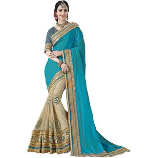 Swaron Blue Colour Net Saree 249S3801A