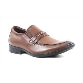 Hitz Tan Leather Formal Shoes For Men