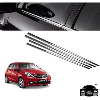 Buy Trigcars Honda Brio Car Window Lower Chrome Garnish Online