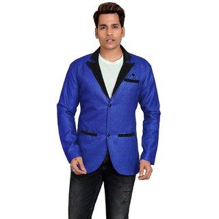 Trustedsnap Jute Cotton Blue Blazer